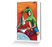 KMAY Hoodkid Crocodile Sailor Greeting Card