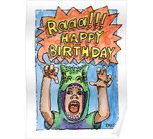 KMAY Hoodkid Dinosaur Boy Birthday Poster
