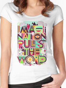 Imagination rules the world Women's Fitted Scoop T-Shirt