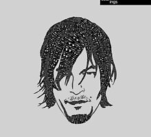Daryl Dixon from Walking Dead (Grey) by seanings