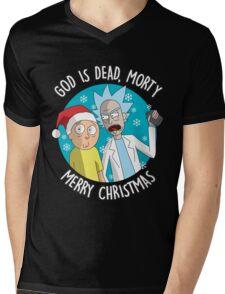 Rick & Morty -  Merry Christmas Mens V-Neck T-Shirt