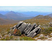 Frost-wedged Conglomerate, SW National Park, Tas Photographic Print