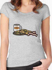 Mulche's Breakfast Women's Fitted Scoop T-Shirt