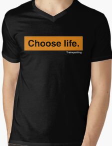 Choose Life Mens V-Neck T-Shirt