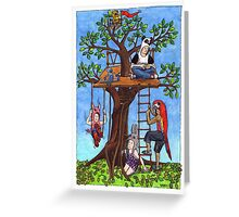 KMAY Hoodkid Treehouse Greeting Card