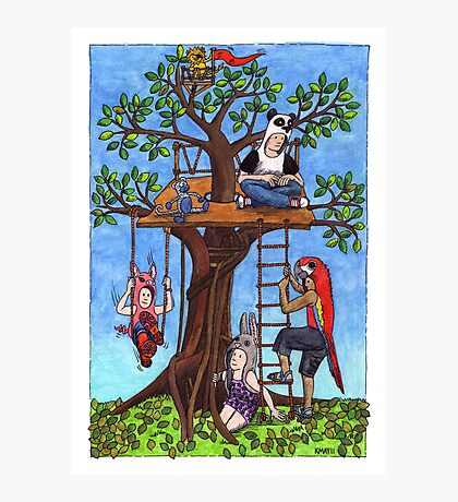 KMAY Hoodkid Treehouse Photographic Print