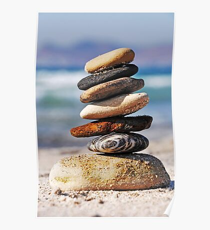 Pebble stack Poster