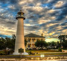Biloxi Lighthouse and Welcome Center by Madeline McDonald