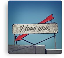 I Love You, A Vintage Sentiment Canvas Print