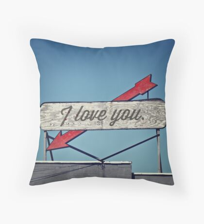 I Love You, A Vintage Sentiment Throw Pillow