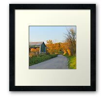 The Hay is in the Barn Framed Print