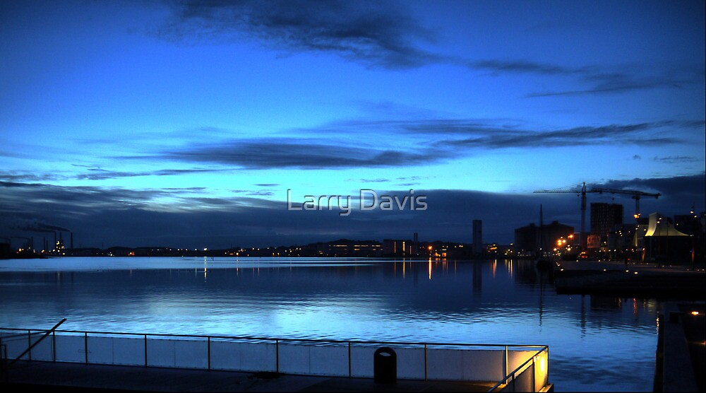 Morning Blue on the Aalborg Limfjord   (1) by Larry Lingard-Davis