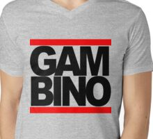 RUN GAMBINO Mens V-Neck T-Shirt