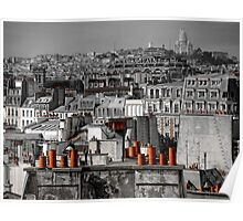 Paris rooftop Poster