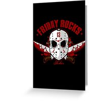 friday the 13th friday rocks Greeting Card