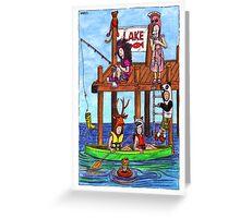KMAY Hoodkids Fishing Greeting Card