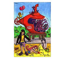 KMAY Hoodkids Beach Submarine Photographic Print