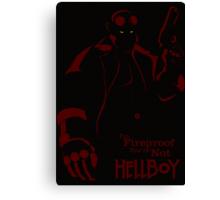 HELLBOY: I'm Fireproof Minimalist Movie Poster Canvas Print
