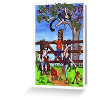 KMAY Hoodkids Climbing the Jacaranda Greeting Card
