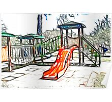 Kids Playground slide Poster