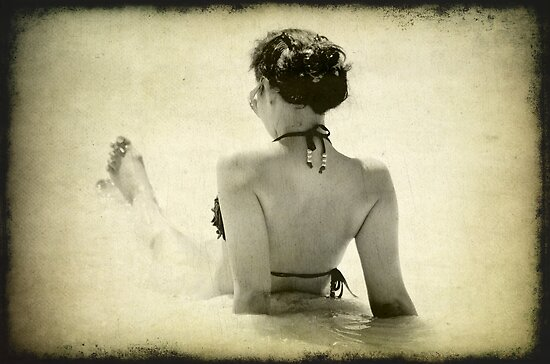 Woman at the Beach by Clare Colins