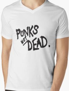 PUNK IS NOT DEAD Mens V-Neck T-Shirt