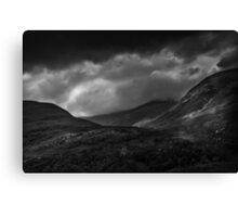 Hills at the side of Loch Leven Canvas Print