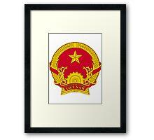 Coat of Arms of Vietnam Framed Print