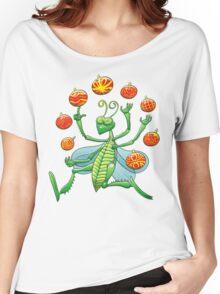Green Grasshopper Juggling Christmas Balls Women's Relaxed Fit T-Shirt