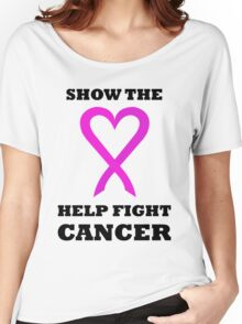 Show the LOVE Cancer 01BL Women's Relaxed Fit T-Shirt