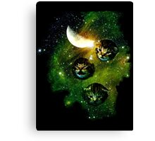three cosmic kittens Canvas Print
