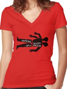 Anatomy of a Hoopy Frood Women's Fitted V-Neck T-Shirt