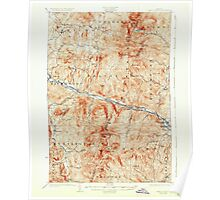 USGS Topo Map  Vermont VT Camels Hump 337903 1924 62500 Poster