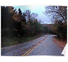 Two Lane Highway Poster