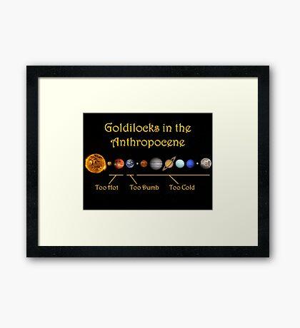 Goldilocks in the Anthropocene Framed Print