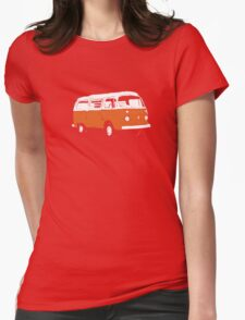 New Bay Campervan Orange Womens Fitted T-Shirt