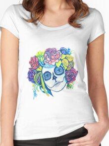 Dama De La Muerte Women's Fitted Scoop T-Shirt