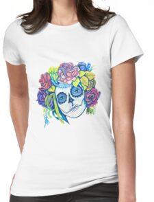 Dama De La Muerte Womens Fitted T-Shirt