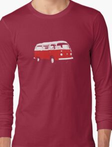 New Bay Campervan Red Long Sleeve T-Shirt