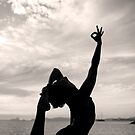 Yoga Silhouette by Lucy Johnston