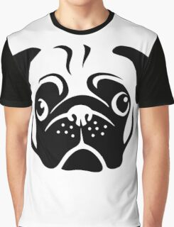 Cute Pug Face by AiReal Apparel Graphic T-Shirt