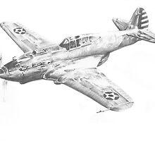Curtiss XP-40 Prototype 1938 by wonder-webb