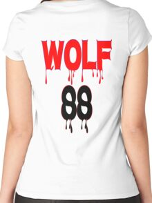 ♥♫WOLF 88-Splendiferous K-Pop EXO Clothes & Stickers♪♥ Women's Fitted Scoop T-Shirt
