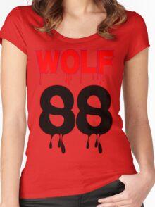 ♥♫WOLF 88-Splendiferous K-Pop EXO Clothes & Stickers♪♥ Women's Fitted Scoop T-Shirt