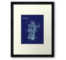 Robot Blueprint Framed Print