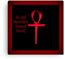 Red Ankh Canvas Print
