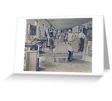 Cabinet Card: c1890 Woodworkers in a Furniture Shop Greeting Card