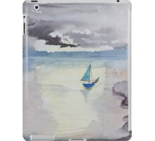 One man sail boat. iPad Case/Skin