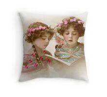 Victorian Girls Singing Throw Pillow