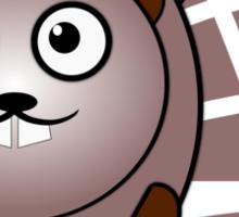 Little Cute Beaver Sticker